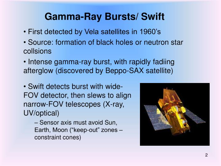 Gamma ray bursts swift