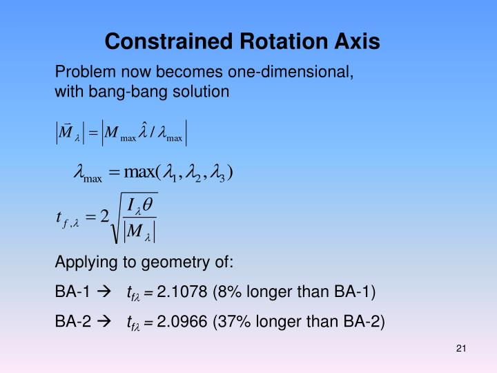 Constrained Rotation Axis