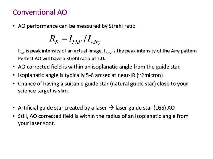 Conventional AO