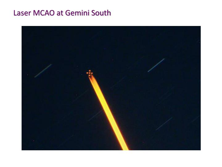 Laser MCAO at Gemini South