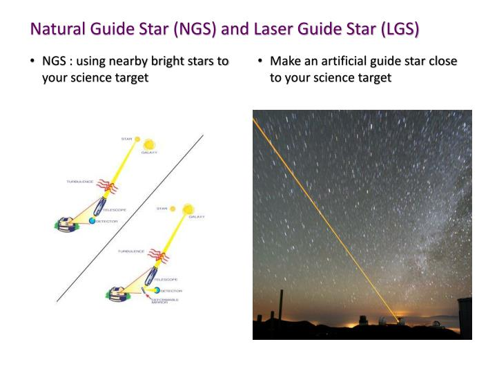 Natural Guide Star (NGS) and Laser Guide Star (LGS)