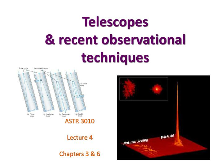 Telescopes recent observational techniques