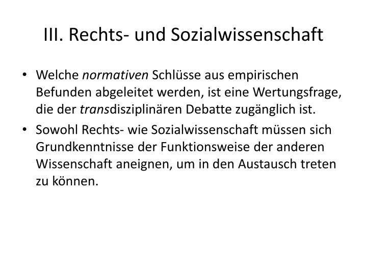 III. Rechts-