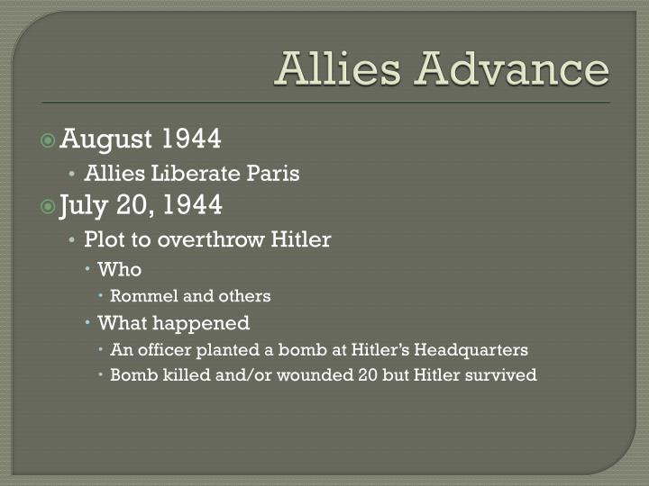 Allies Advance