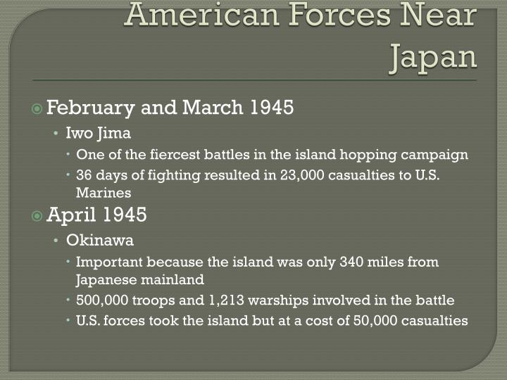 American Forces Near Japan