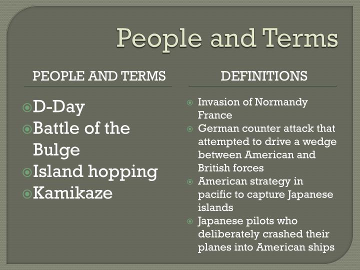 People and Terms