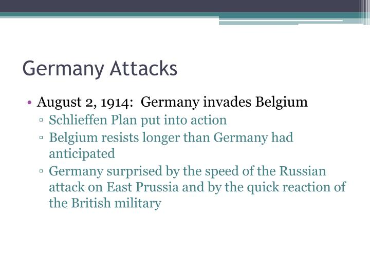 Germany Attacks
