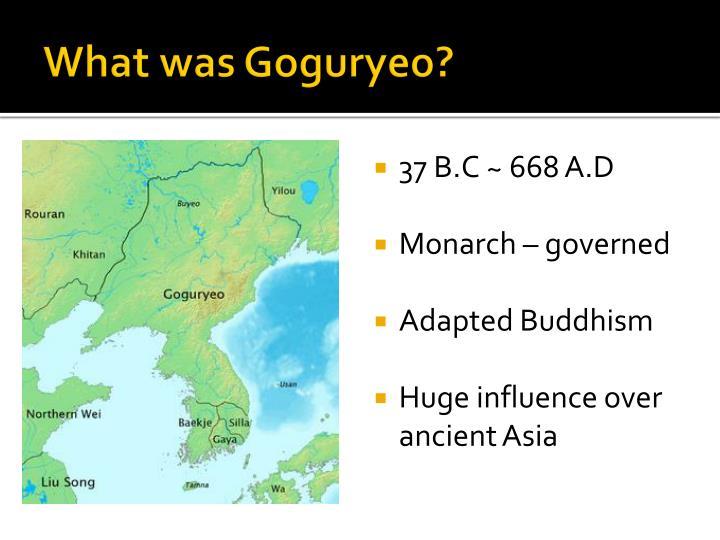What was Goguryeo?