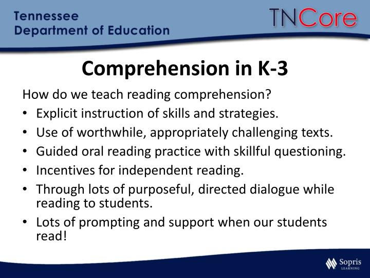 Comprehension in