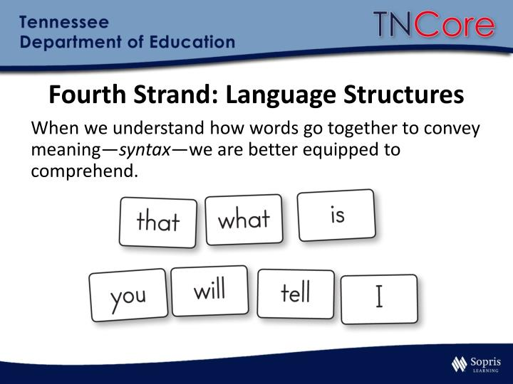 Fourth Strand: Language Structures