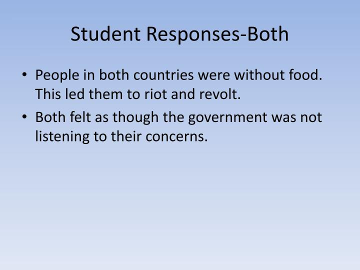 Student Responses-Both