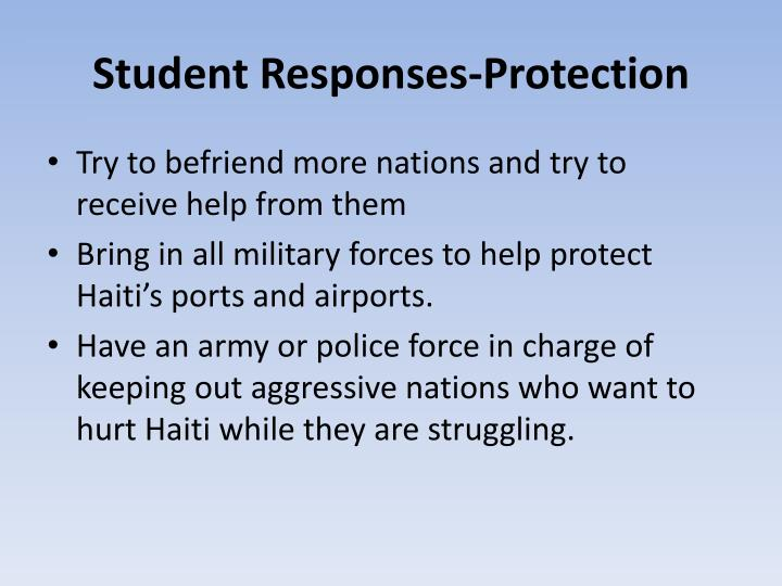 Student responses protection