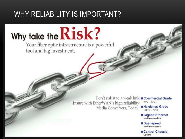 Why reliability is important?