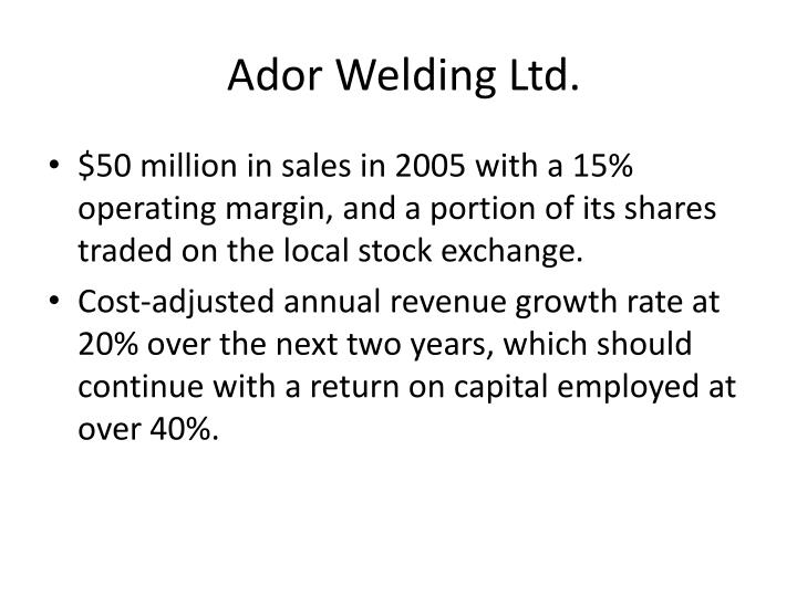 Ador Welding Ltd
