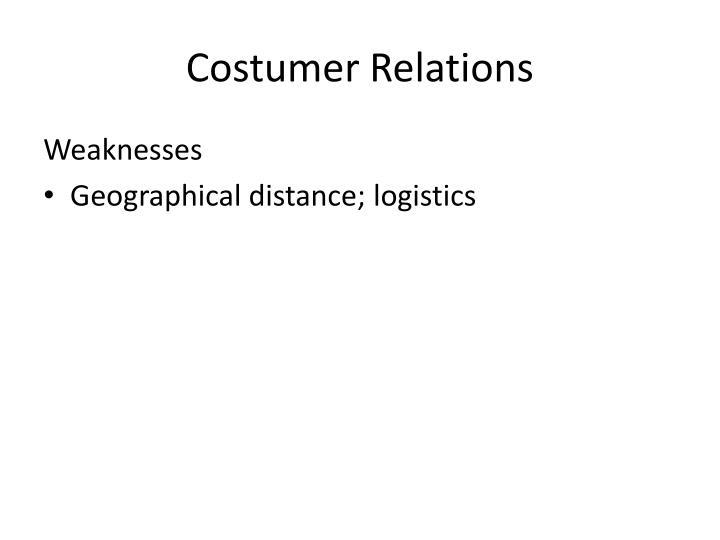 Costumer Relations