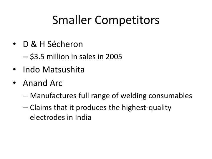 Smaller Competitors