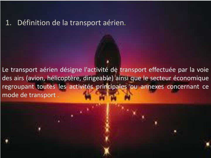 Définition de la transport aérien