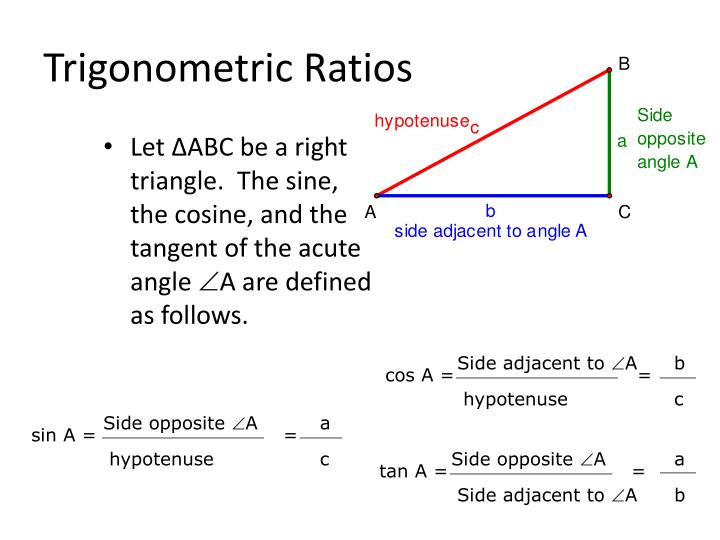 Let ∆ABC be a right triangle.  The