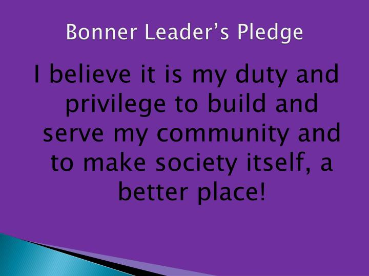 Bonner Leader's Pledge