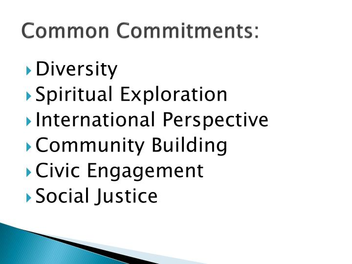 Common Commitments: