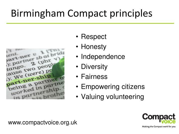 Birmingham Compact principles