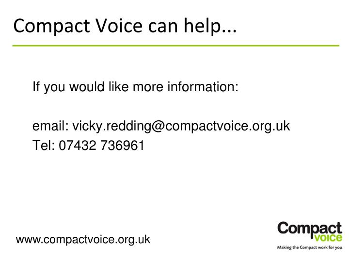 Compact Voice can help...