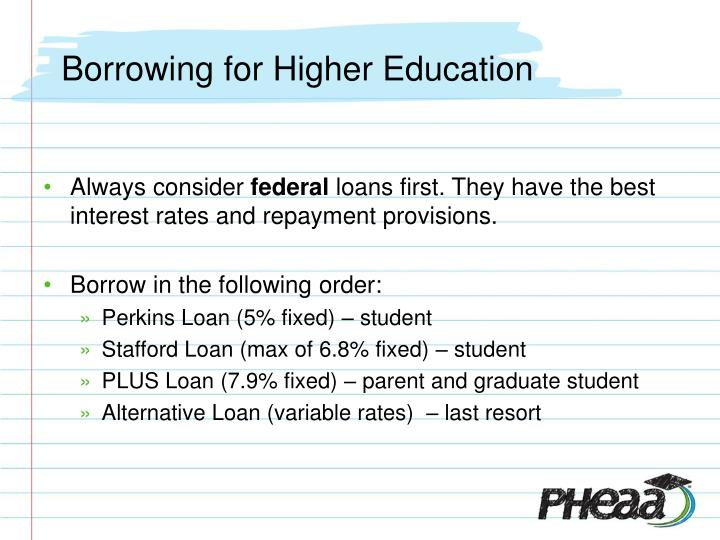 Borrowing for Higher Education