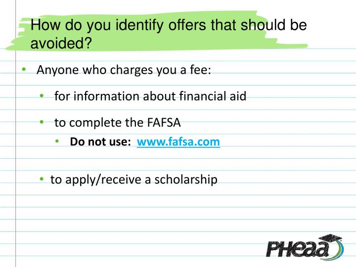 How do you identify offers that should be avoided?