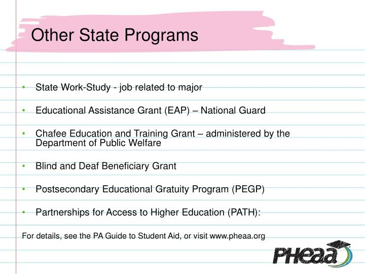 Other State Programs