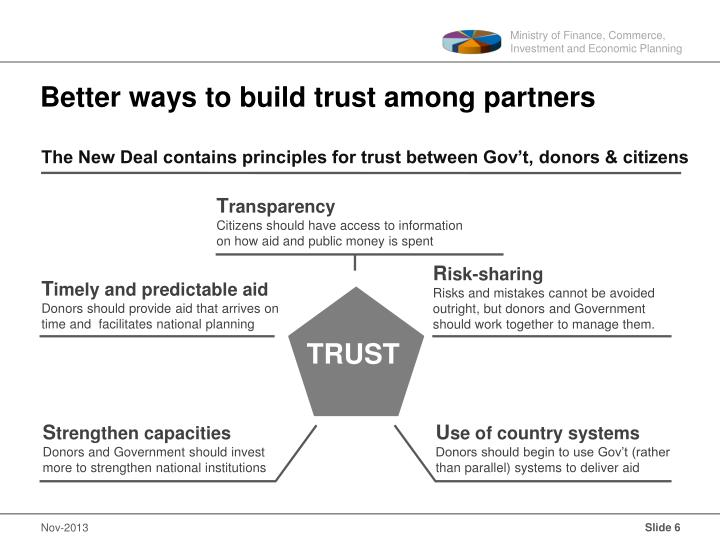 Better ways to build trust among partners