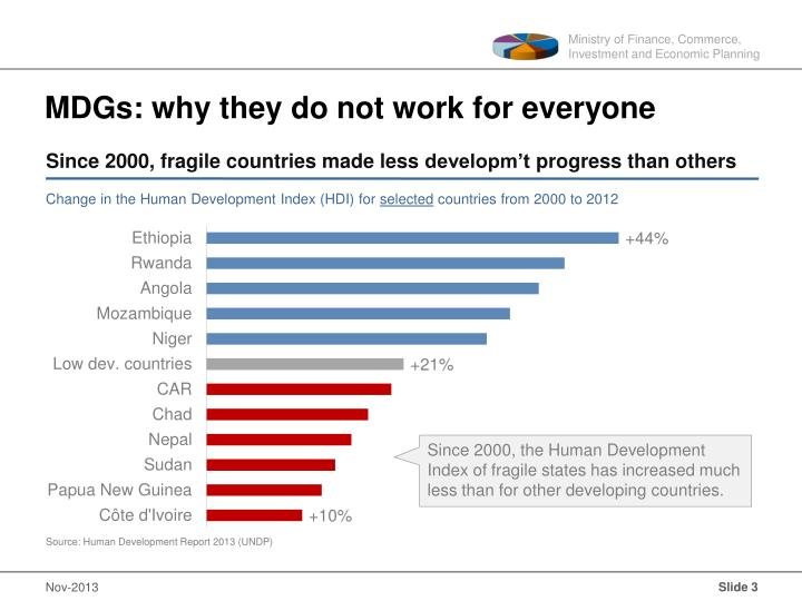 Mdgs why they do not work for everyone