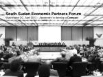 south sudan economic partners forum washington dc april 2013 agreement to develop a compact