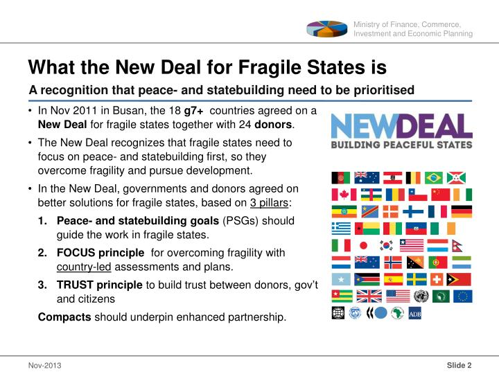 What the New Deal for Fragile States is