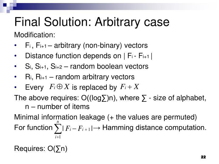Final Solution: