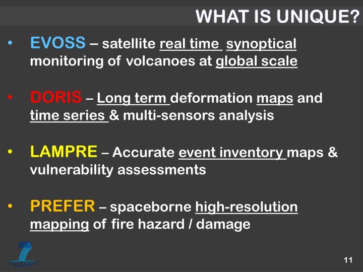 WHAT IS UNIQUE?