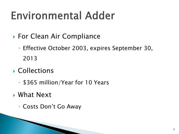 Environmental Adder
