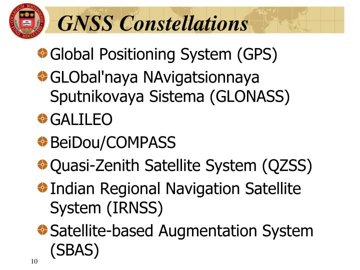 GNSS Constellations