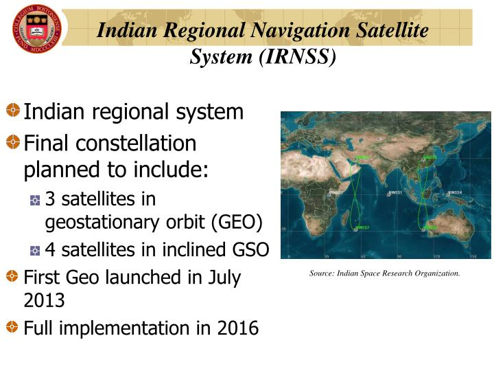 Indian Regional Navigation Satellite System (IRNSS)