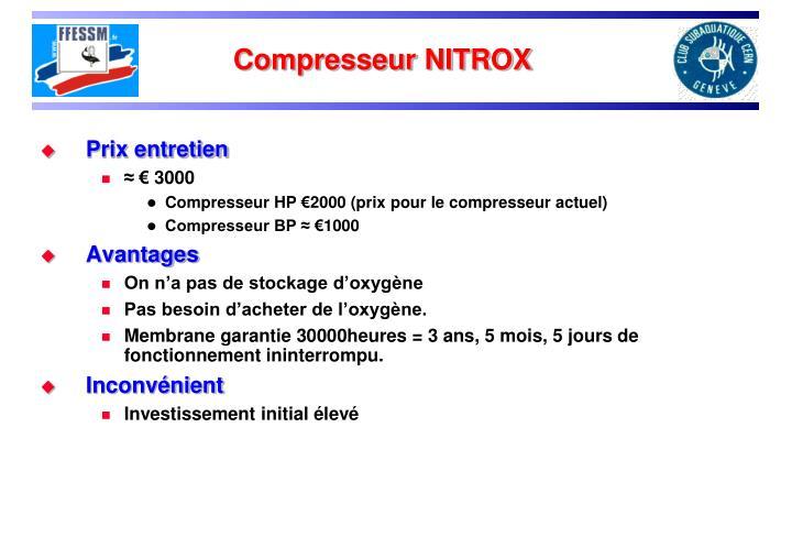 Compresseur NITROX