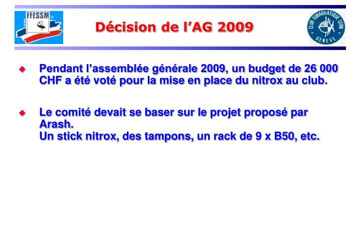 Décision de l'AG 2009
