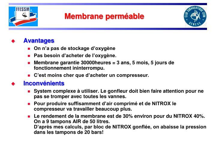 Membrane perméable