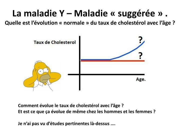 La maladie Y – Maladie «suggérée» .
