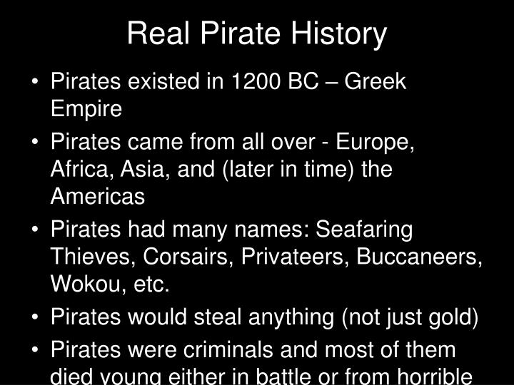 Real pirate history