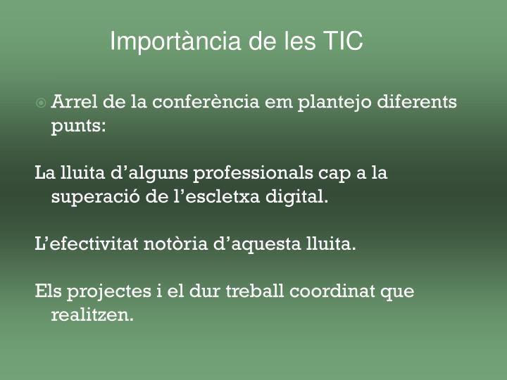 Importància de les TIC