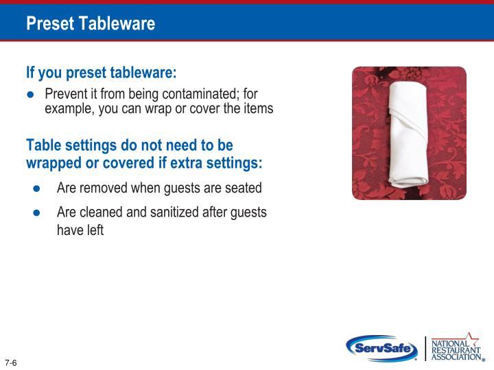 Preset Tableware