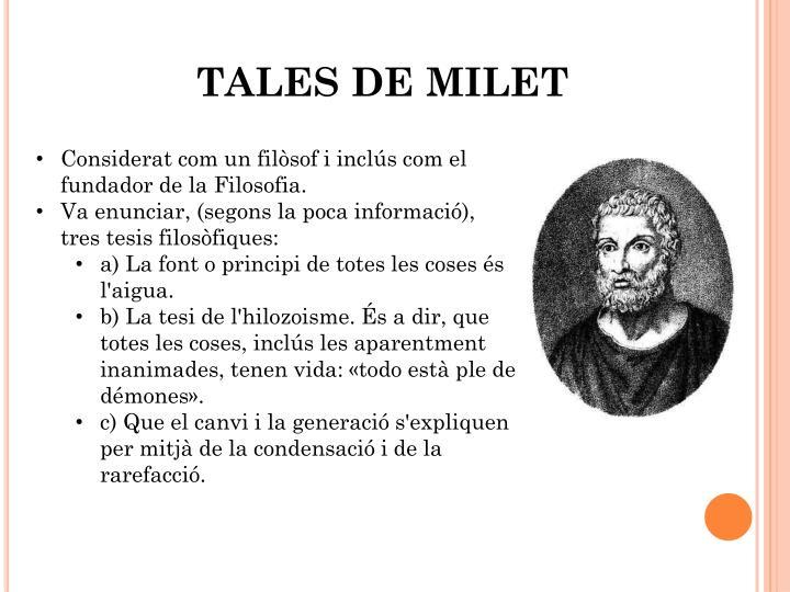 TALES DE MILET