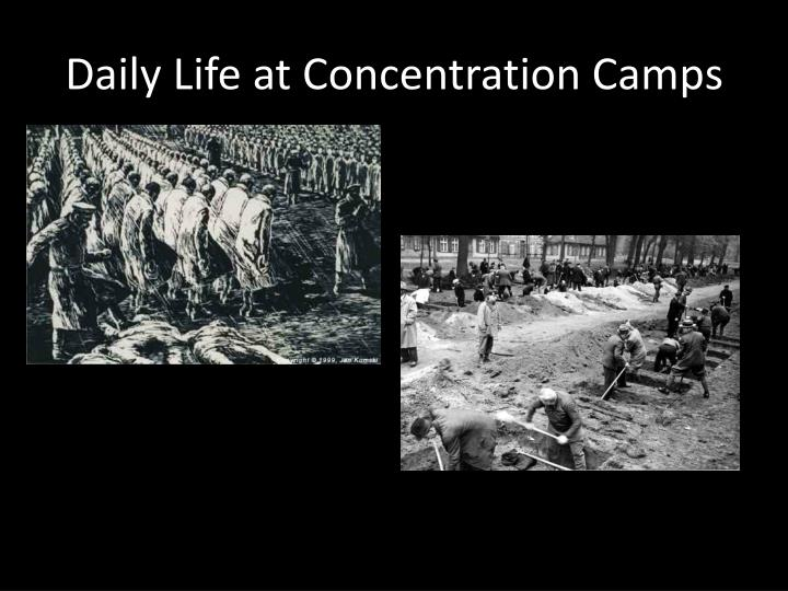 Daily Life at Concentration Camps