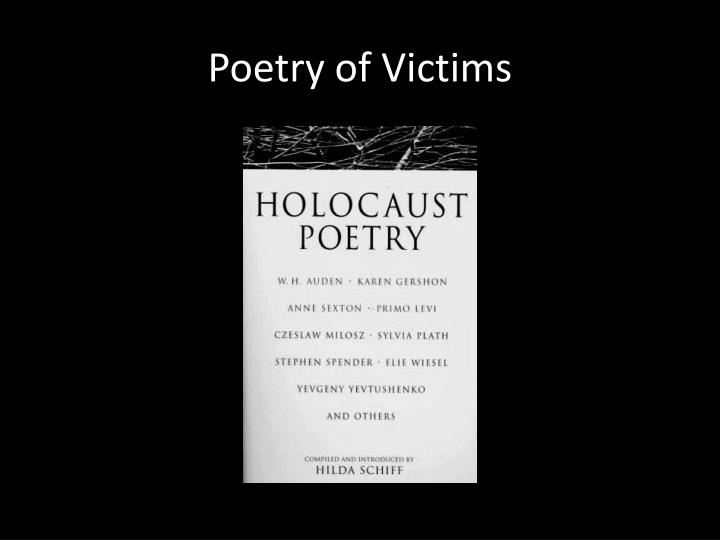 Poetry of Victims