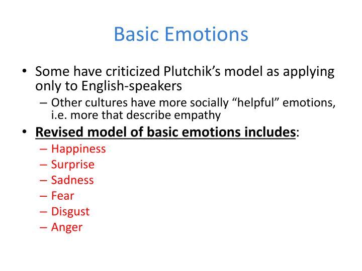 Basic Emotions