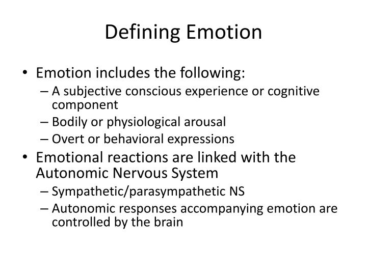 Defining Emotion